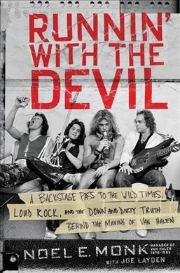 Black and white photo of the band Van Halen: members with beer can, liquor bottle and instruments and instruments-book cover