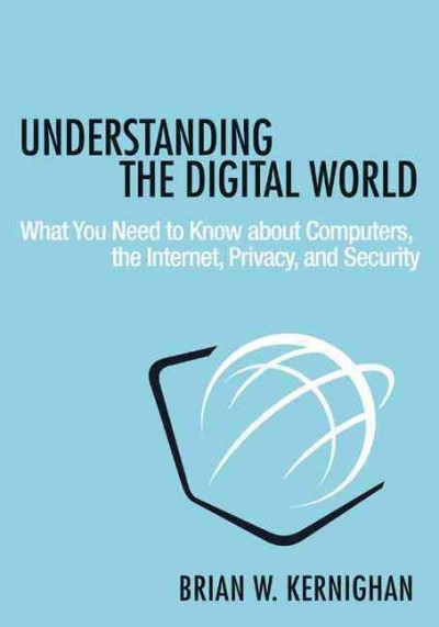 Blue book with black letters that read Understanding the Digital World