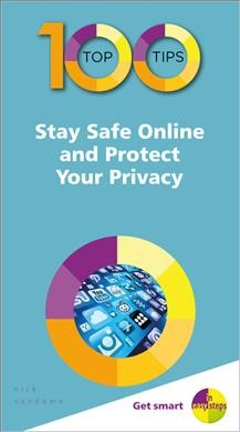 Blue book with white letters that read Stay Safe Online and Protect Your Privacy
